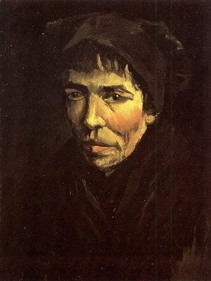 Vincent Van Gogh - Head Of A Peasant Woman With Dark Cap VI