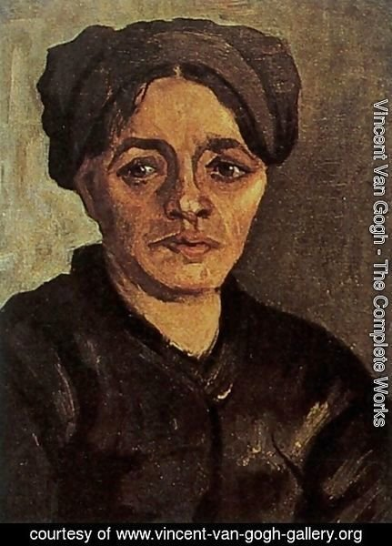 Vincent Van Gogh - Head Of A Peasant Woman With Dark Cap VIII