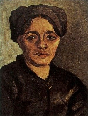 Head Of A Peasant Woman With Dark Cap VIII