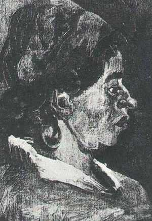 Vincent Van Gogh - Head Of A Peasant Woman With Dark Cap IX