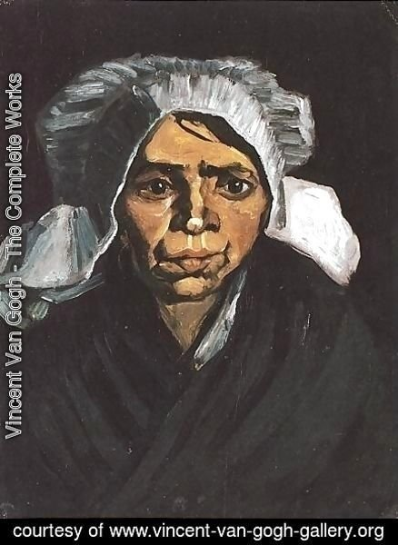 Vincent Van Gogh - Head Of A Peasant Woman With White Cap I