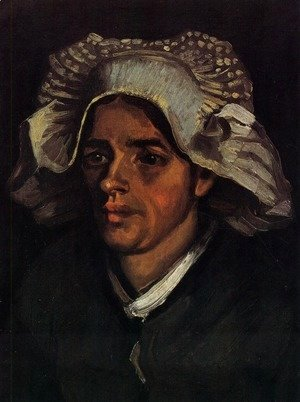 Vincent Van Gogh - Head Of A Peasant Woman With White Cap II