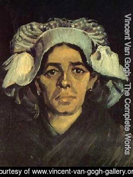 Vincent Van Gogh - Head Of A Peasant Woman With White Cap IV