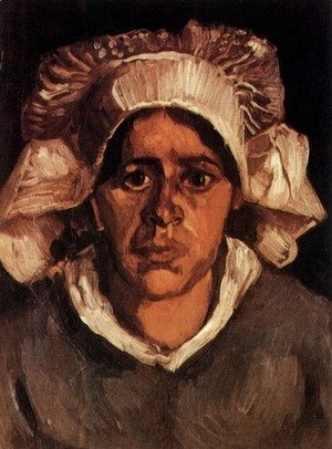 Vincent Van Gogh - Head Of A Peasant Woman With White Cap VI