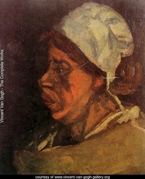 Head Of A Peasant Woman With White Cap VII