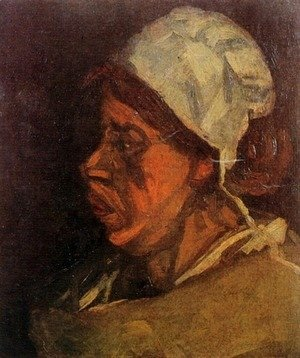 Vincent Van Gogh - Head Of A Peasant Woman With White Cap VII