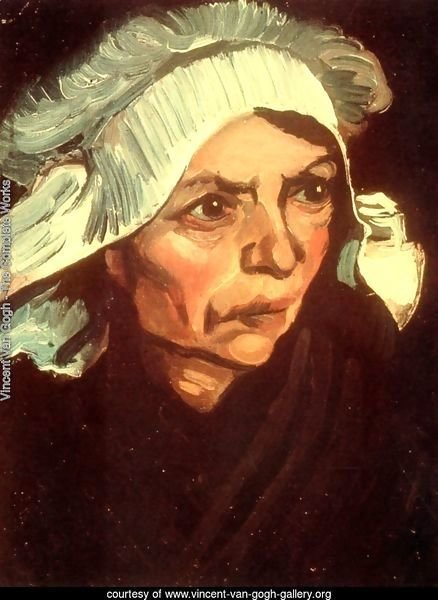 Head Of A Peasant Woman With White Cap VIII