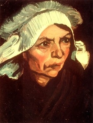 Vincent Van Gogh - Head Of A Peasant Woman With White Cap VIII