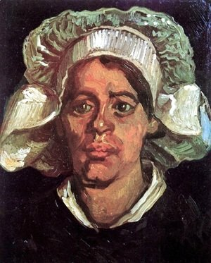Head Of A Peasant Woman With White Cap IX