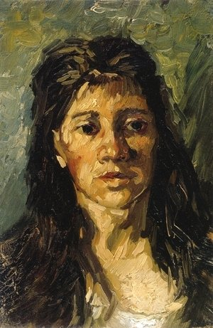 Head Of A Woman With Her Hair Loose