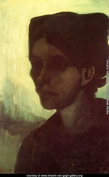 Head Of A Young Peasant Woman With Dark Cap