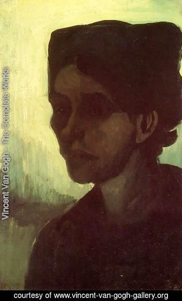 Vincent Van Gogh - Head Of A Young Peasant Woman With Dark Cap