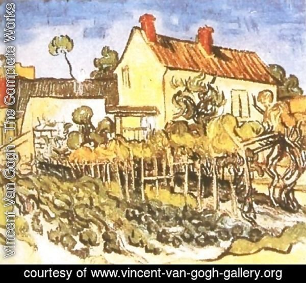 Vincent Van Gogh - House Of Pere Pilon The II
