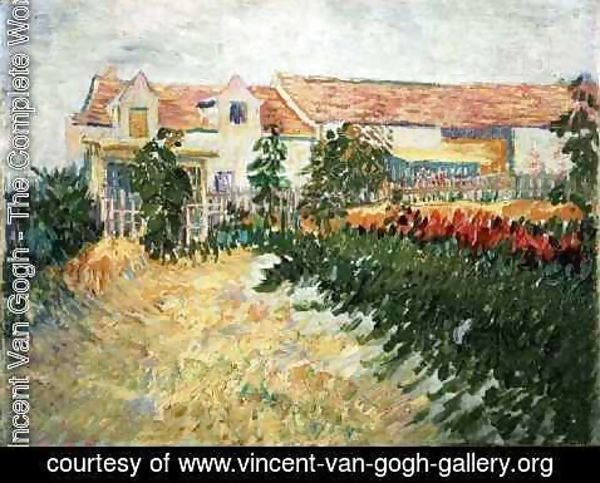 Vincent Van Gogh - House With Sunflowers