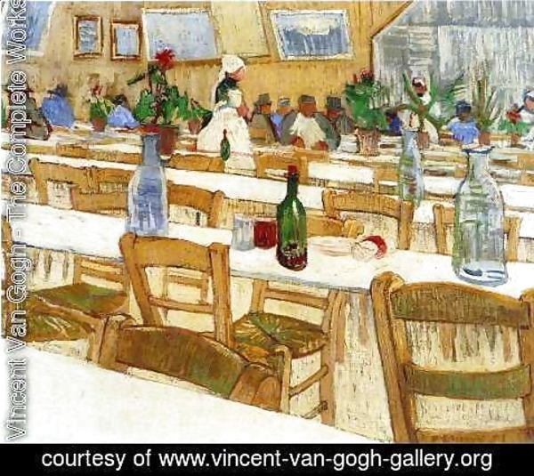 Vincent Van Gogh - Interior Of The Restaurant Carrel In Arles