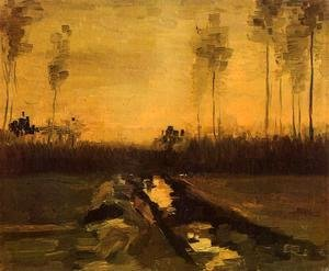 Vincent Van Gogh - Landscape At Dusk