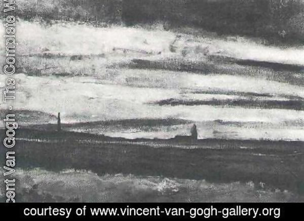 Vincent Van Gogh - Landscape With A Church At Twilight