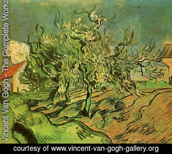 Vincent Van Gogh - Landscape With Three Trees And A House