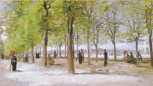 Vincent Van Gogh - Lane At The Jardin Du Luxembourg