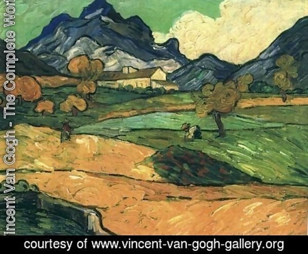 Vincent Van Gogh - Le Mont Gaussier With The Mas De Saint Paul