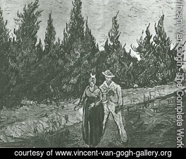 Vincent Van Gogh - The Lovers: The Poet's Garden IV