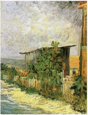 Vincent Van Gogh - Montmartre Path With Sunflowers