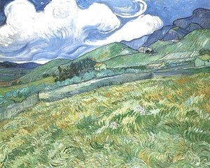 Vincent Van Gogh - Mountainous Landscape Behind Saint Paul Hospital