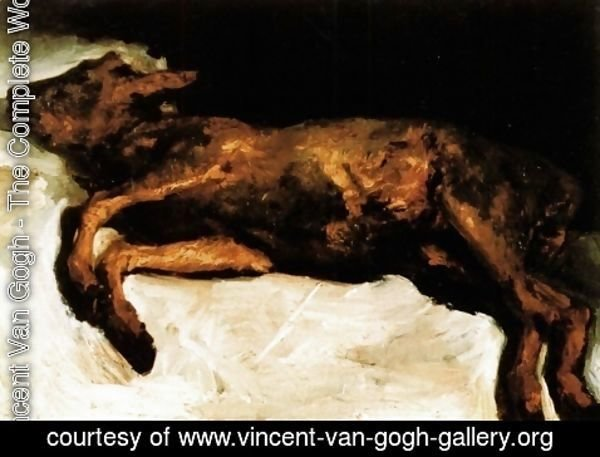 Vincent Van Gogh - New Born Calf Lying On Straw