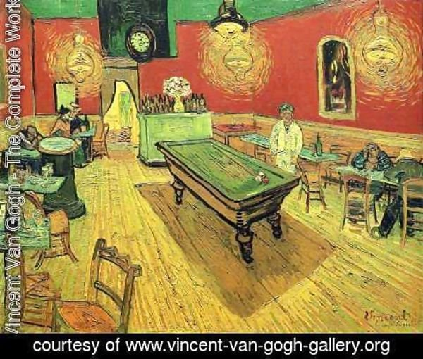 Vincent Van Gogh - The Night Cafe In The Place Lamartine In Arles