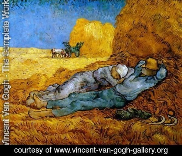 Vincent Van Gogh - Rest From Work (after Millet)