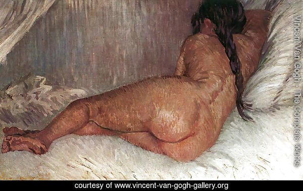 Nude Woman Reclining Seen From The Back