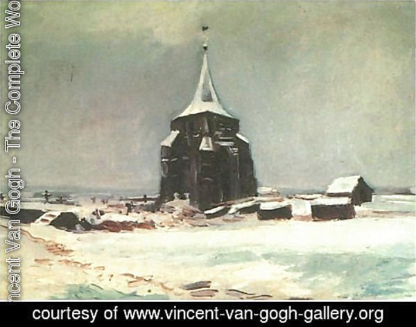 Vincent Van Gogh - The Old Cemetery Tower At Nuenen In The Snow
