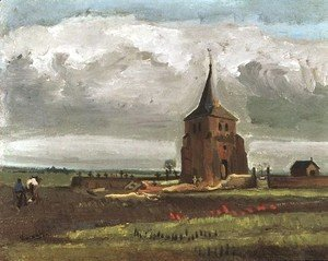 The Old Tower At Nuenen With A Ploughman