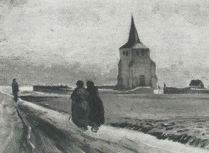 Vincent Van Gogh - The Old Tower Of Nuenen With People Walking