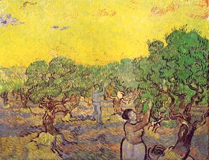 Vincent Van Gogh - Olive Grove With Picking Figures