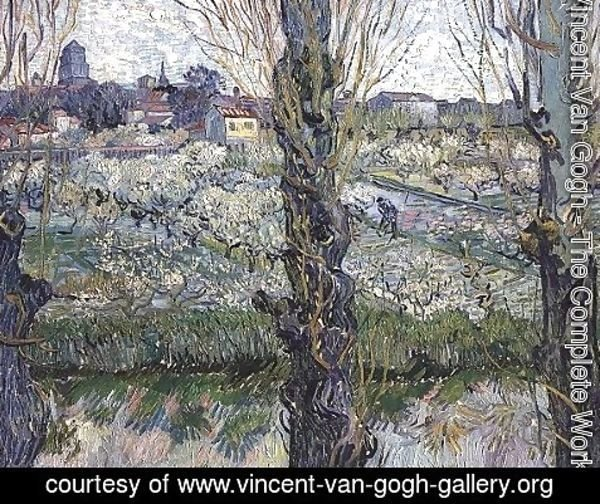 Vincent Van Gogh - Orchard In Blossom With View Of Arles