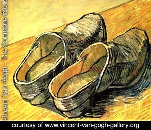 Vincent Van Gogh - Pair Of Leather Clogs A