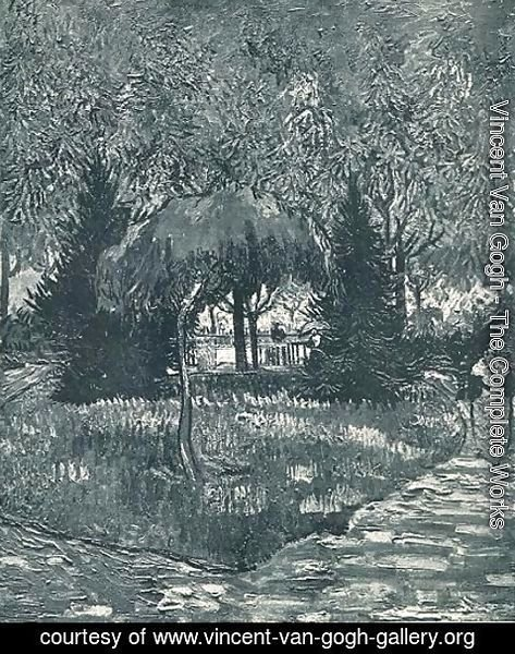 Vincent Van Gogh - The Park At Arles With The Entrance Seen Through The Trees