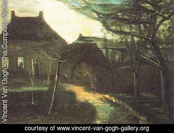 The Parsonage At Nuenen By Moonlight