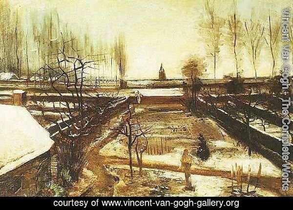 Parsonage Garden At Nuenen In The Snow The II