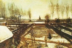 Vincent Van Gogh - Parsonage Garden At Nuenen In The Snow The II