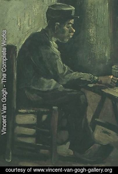 Vincent Van Gogh - Peasant Sitting At A Table