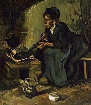 Vincent Van Gogh - Peasant Woman By The Fireplace