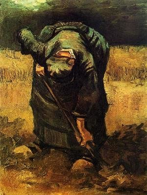 Vincent Van Gogh - Peasant Woman Digging II
