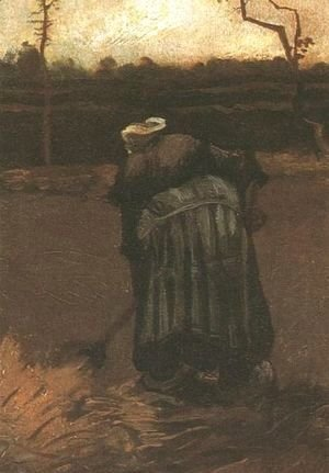 Vincent Van Gogh - Peasant Woman Digging IV