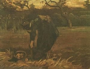 Vincent Van Gogh - Peasant Woman Digging Up Potatoes
