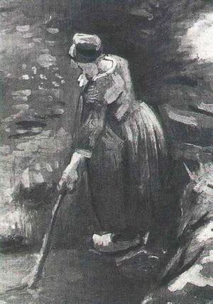 Vincent Van Gogh - Peasant Woman Raking