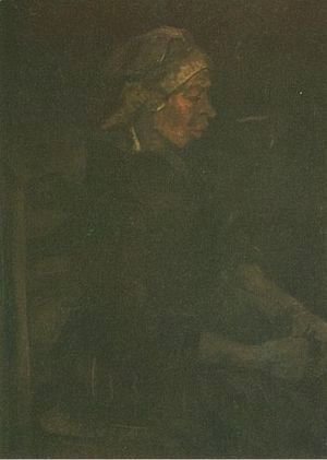 Vincent Van Gogh - Peasant Woman Seated With White Cap
