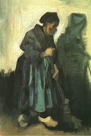 Vincent Van Gogh - Peasant Woman Sweeping The Floor