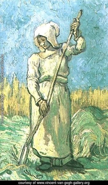 Peasant Woman With A Rake (after Millet)